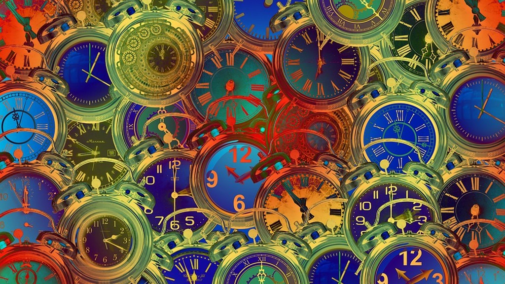 colorful images of clocks